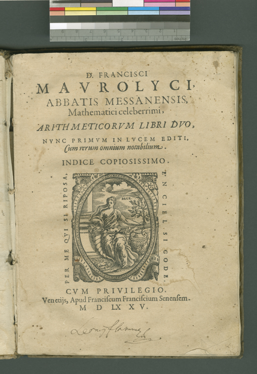 Maurolycus Arithmetic Title Page