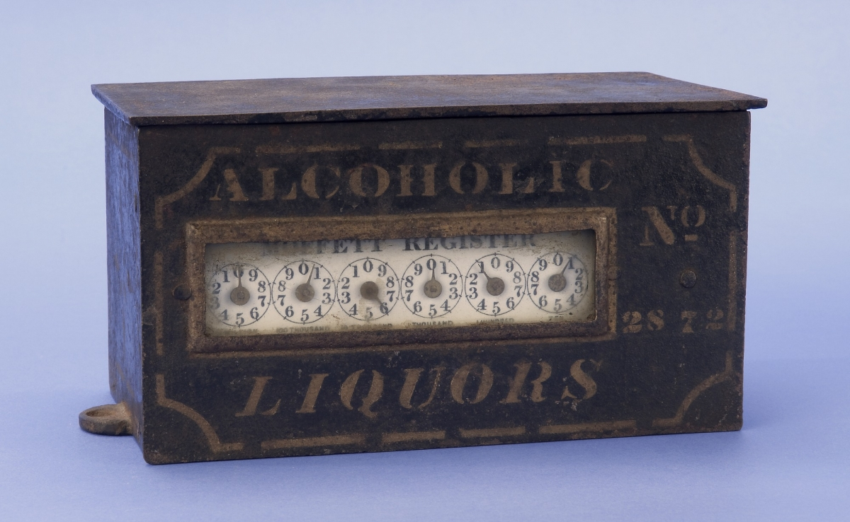 Moffett register, used in 1877 to track alcohol sales.
