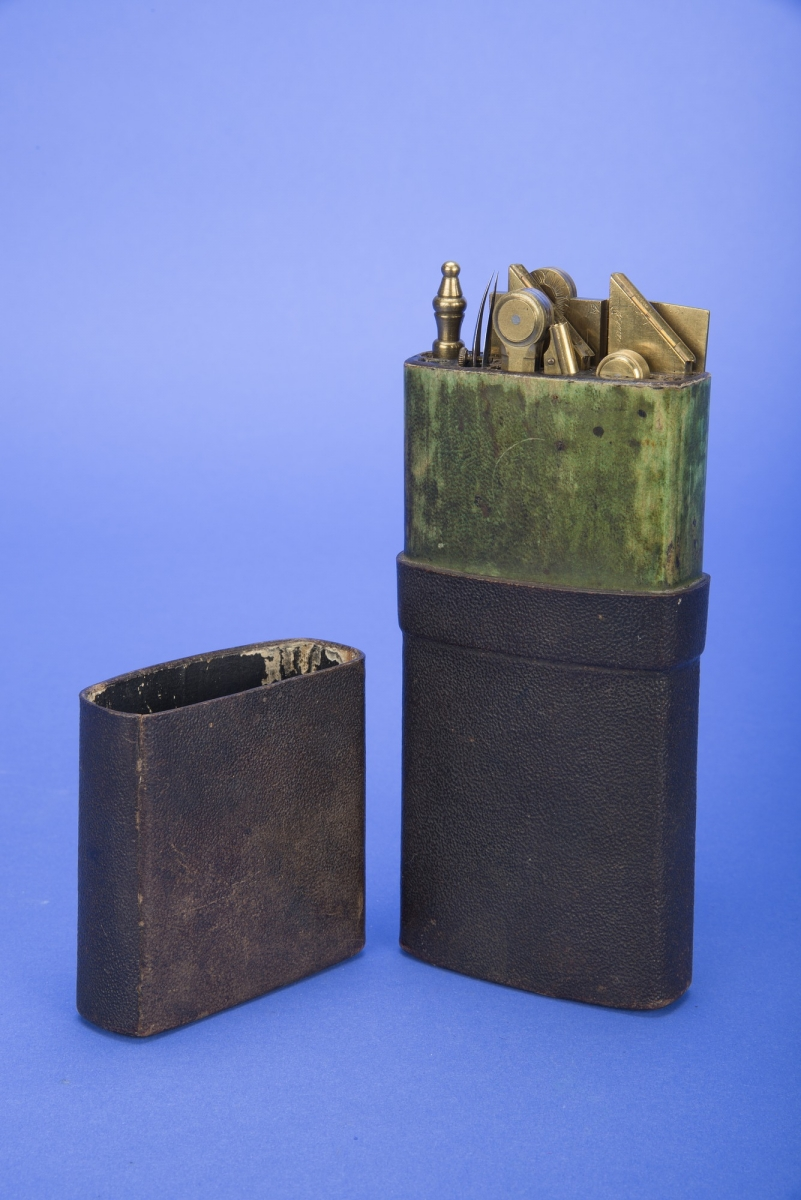 18th-century Pocket Case of Drawing Instruments