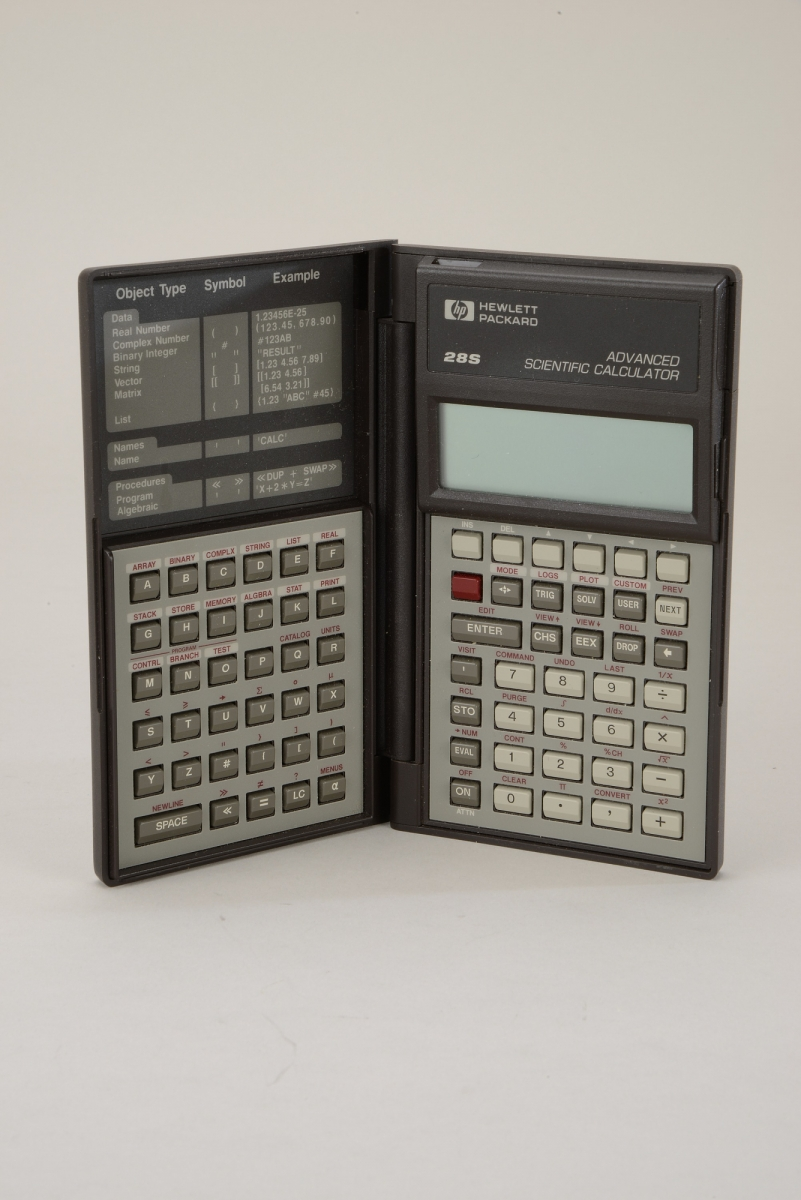 Hewlett-Packard HP-28S Handheld Electronic Calculator from the Centennial Meeting of the AMS