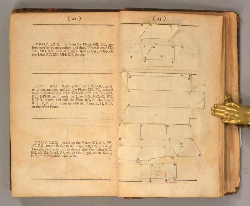 Pages 22-23 of 1728 second edition of John Keill's Euclid.