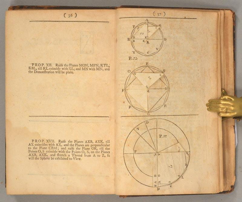 Pages 36-37 of 1728 second edition of John Keill's Euclid.
