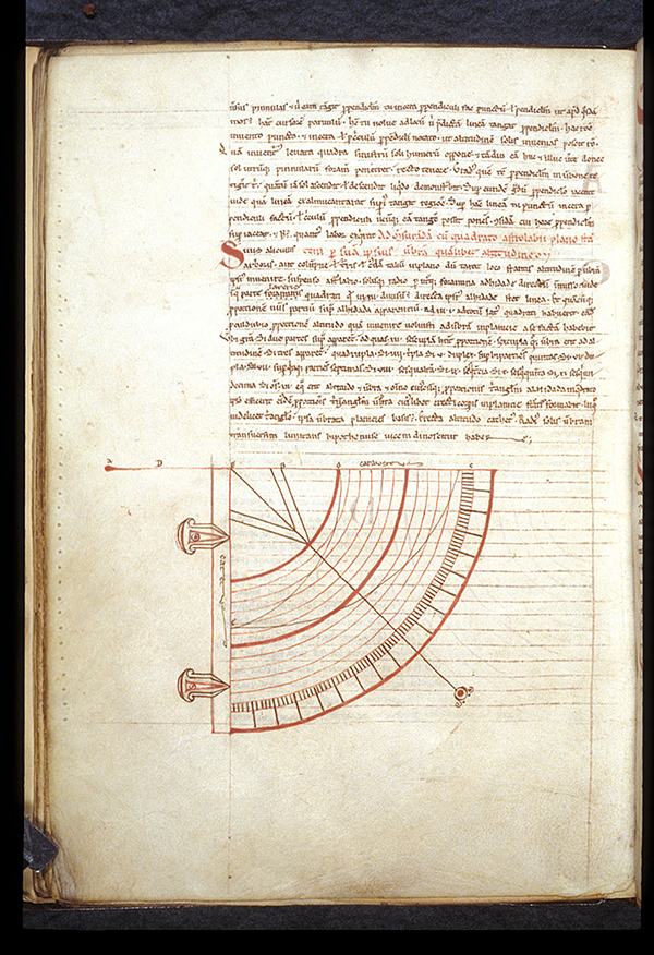 Folio 60v of a 12th century French manuscript containing work by Gerbert of Aurillac on the use of an astrolabe
