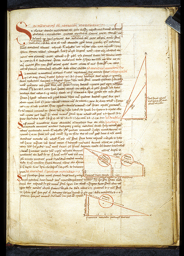 Folio 61 of a 12th century French manuscript containing work by Gerbert of Aurillac