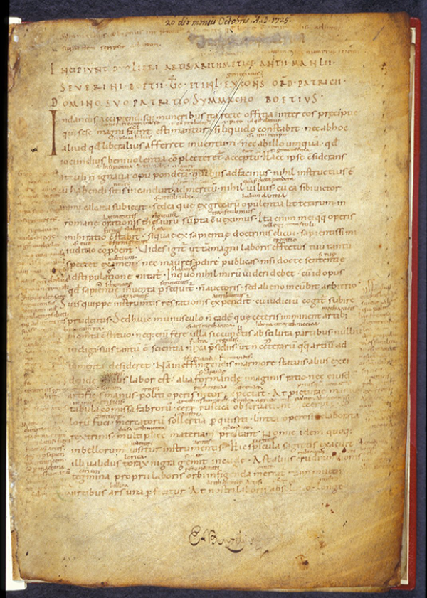 First page of De institutione arithmetica by Boethius, 10th century