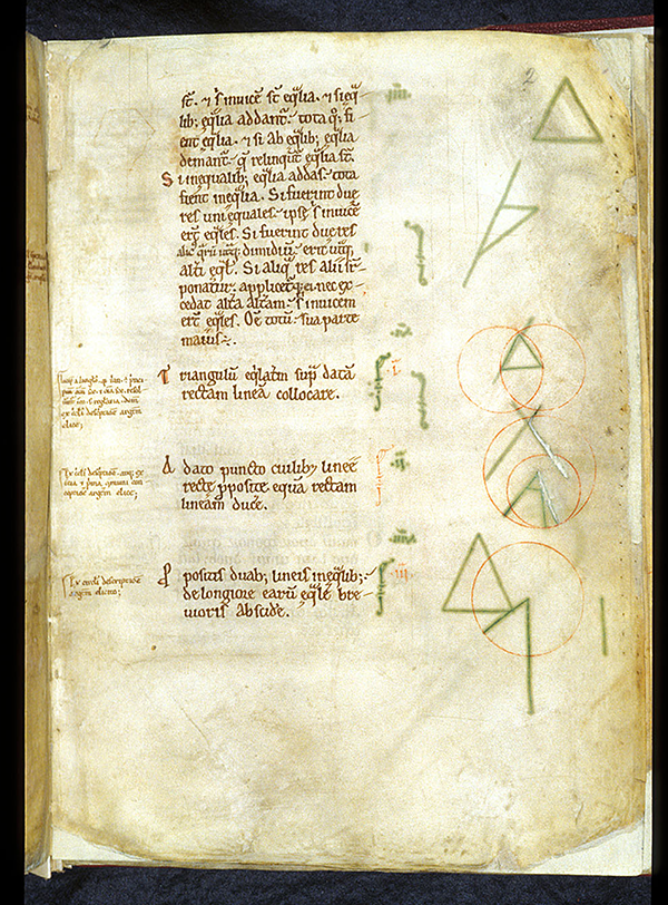 Folio 2 from 12th Century English manuscript of Latin translation of Eucild's Elements by Adelard of Bath