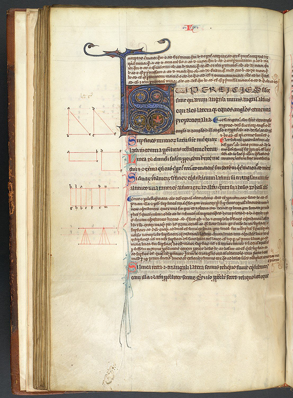 Folio 33v from 13th Century French edition of Latin translation of Eucild's Elements by Adelard of Bath