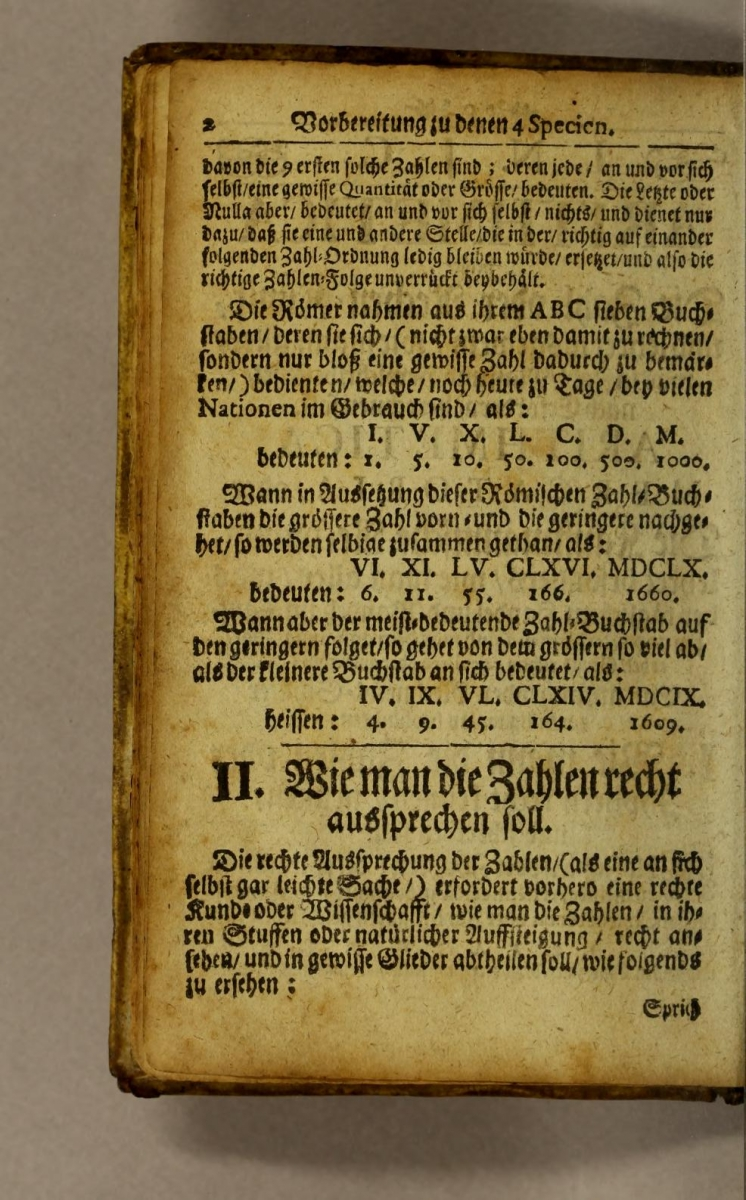 Page 2 from a 1726 edition of Valentin Heins's Tyrocinium mercatorio-arithmeticum.