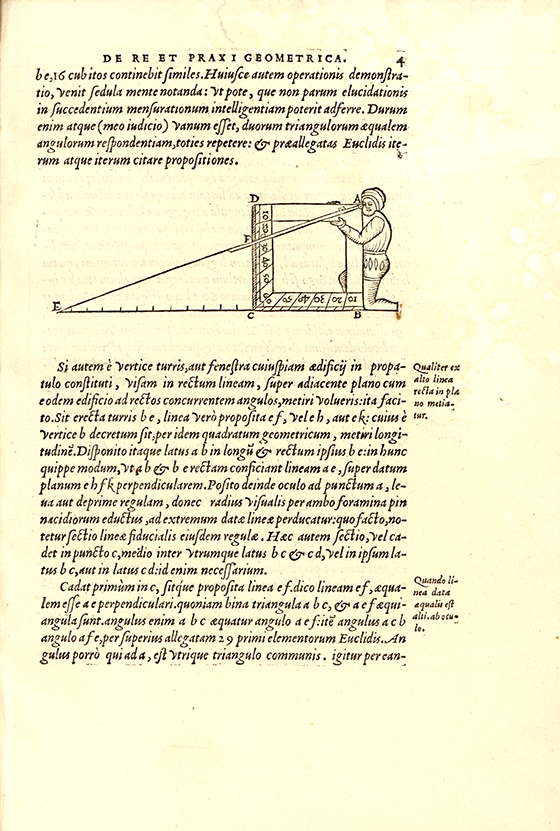 Page 4 from De re et praxi geometrica by Oronce Fine, 1556