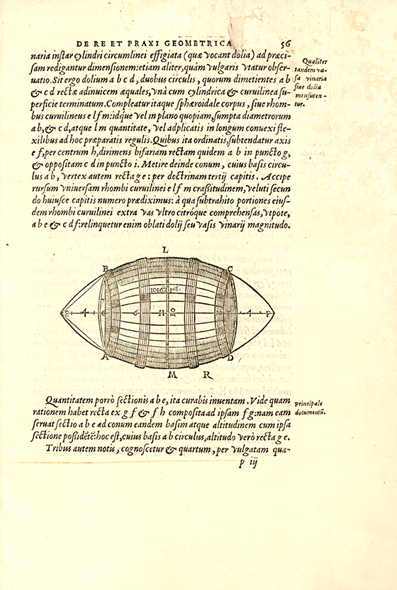 Page 56 from De re et praxi geometrica by Oronce Fine, 1556