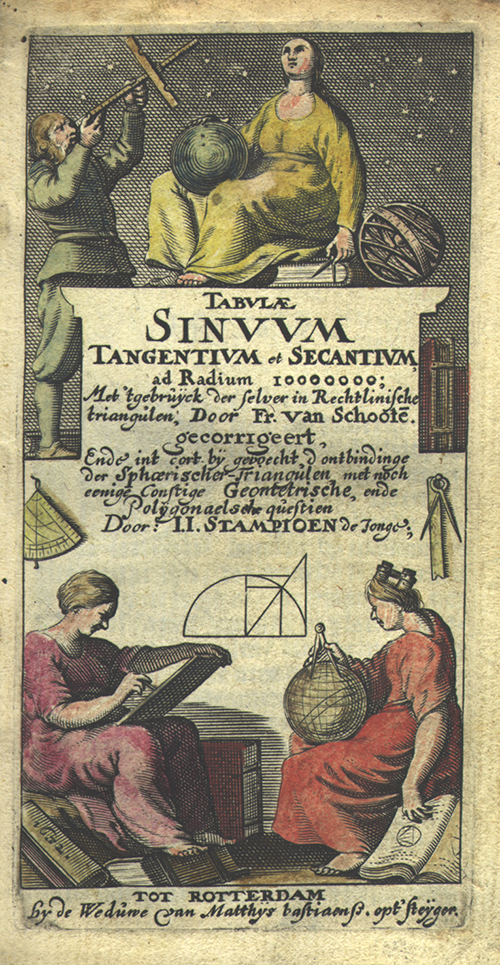 Title page from Tabulae sinuum by Frans van Shooten, 1632