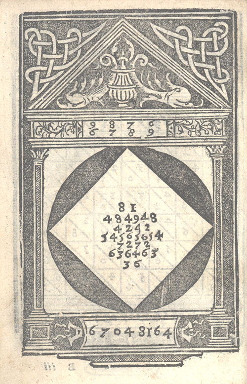 Illustration of 9876 multiplied by 6789 from Libro d'abaco by Giovanni and Girolamo Tagliente, 1535