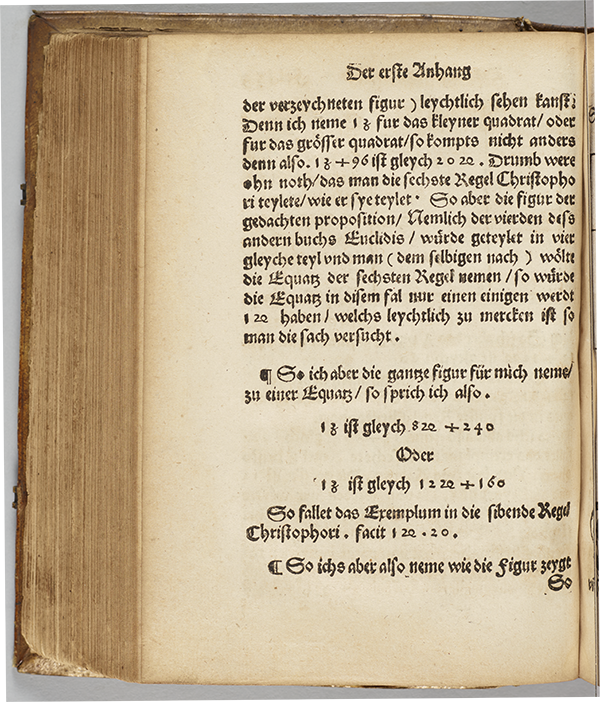 Folio 159 (verso) from 1553 edition of Christoff Rudolff's Die coss.