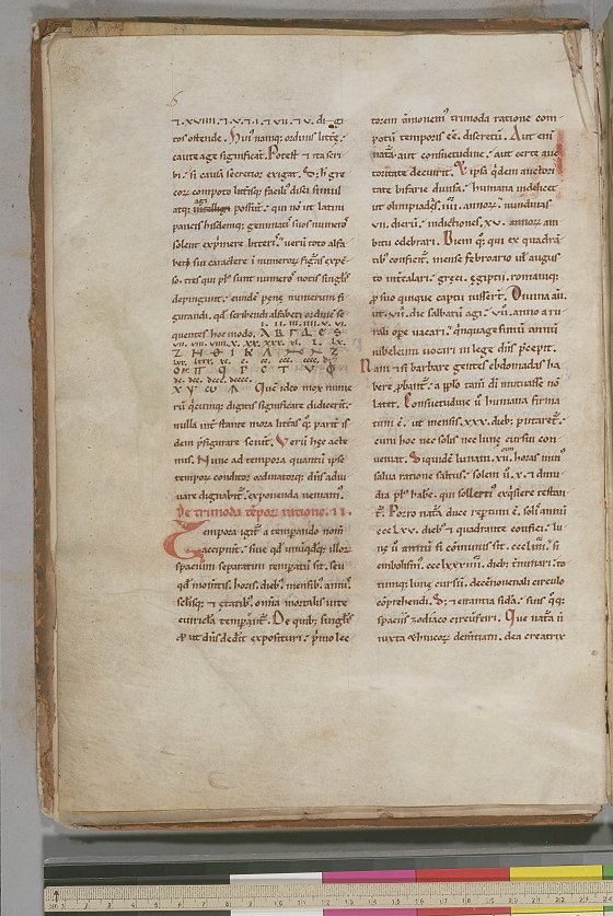 Folio 3 (verso) of De ratione temporum by Bede, circa 1180