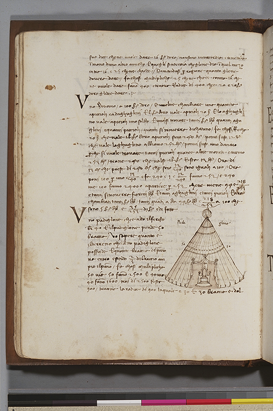 Second folio from Trattato dell'abbaco by Paolo Dagomari, 1339
