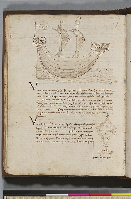 Fifth folio from Trattato dell'abbaco by Paolo Dagomari, 1339