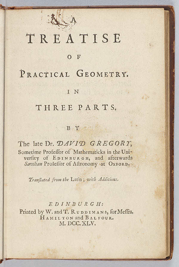 Title page of A Treatise of Practical Geometry by David Gregory, 1745