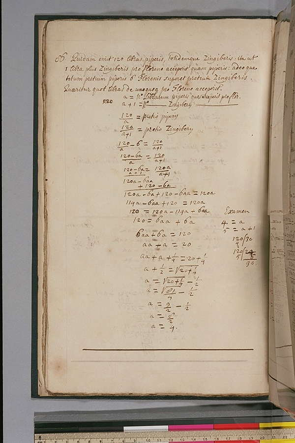 Folio 24 (verso) of a 17th century English university student's mathematical notes