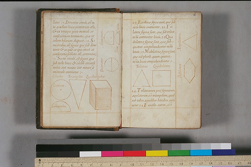 Folios 3v-4 of Italian edition of Euclid's Elements, circa 1510
