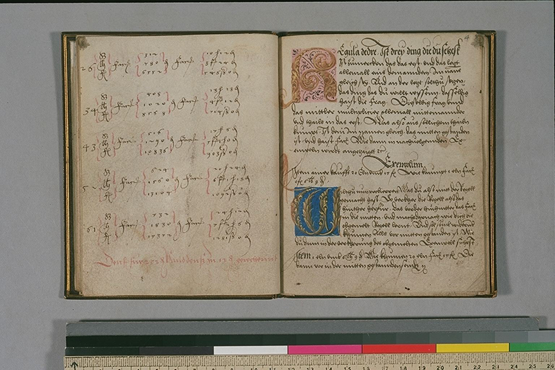 Two more pages from arithmetic book by Johann Neudörffer, circa 1530