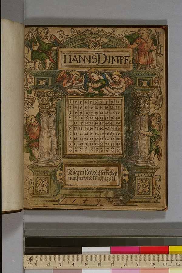 Title page of arithmetic book by Johann Neudörffer, circa 1530