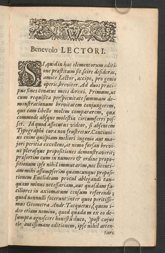 First page of Euclidis Elementorum by Isaac Barrow, 1678