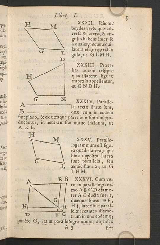 Page 5 of Euclidis Elementorum by Isaac Barrow, 1678