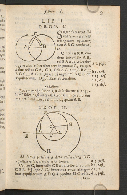 Page 9 of Euclidis Elementorum by Isaac Barrow, 1678
