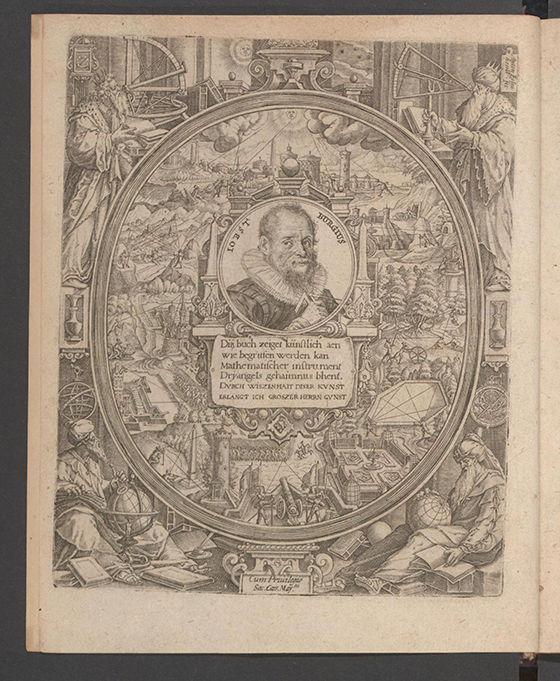 Frontispiece from Apollonius Cattus oder ... Geometriae by Benjamin Bramer and Jost Burgi, 1684