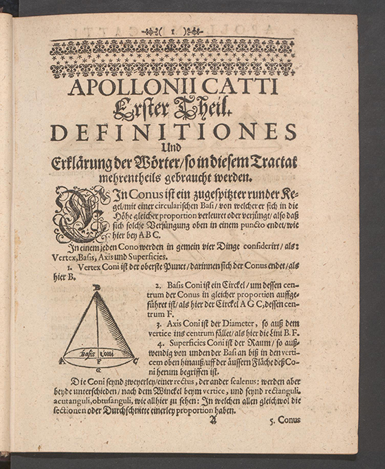 Page 1 of Apollonius Cattus oder ... Geometriae by Benjamin Bramer and Jost Burgi, 1684