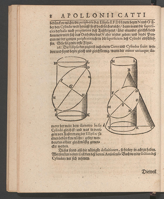 Page 8 of Apollonius Cattus oder ... Geometriae by Benjamin Bramer and Jost Burgi, 1684