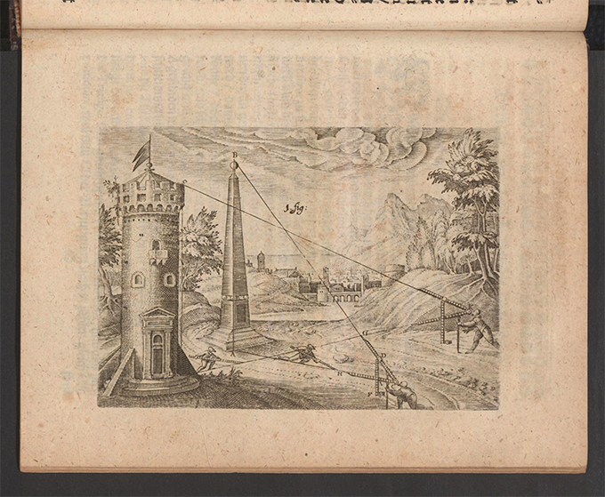 Figure 1 from Part 3 of Apollonius Cattus oder ... Geometriae by Benjamin Bramer and Jost Burgi, 1684