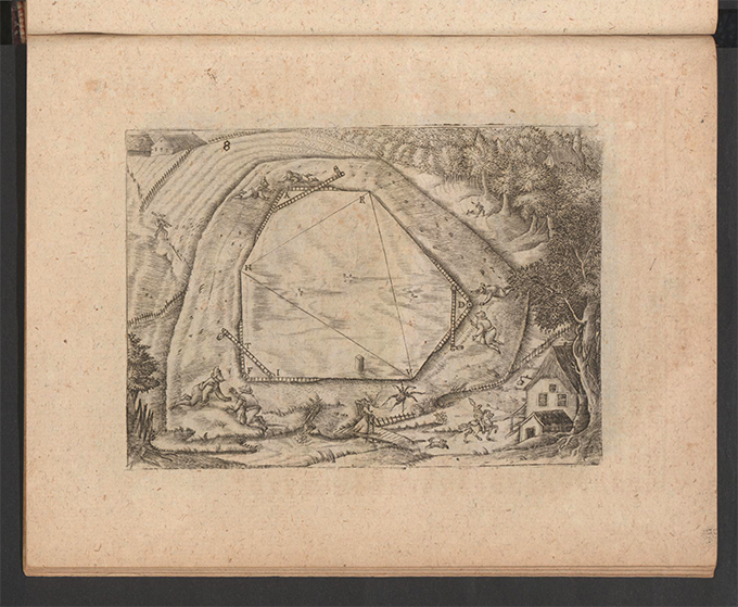Plate 8 from Part 3 of Apollonius Cattus oder ... Geometriae by Benjamin Bramer and Jost Burgi, 1684