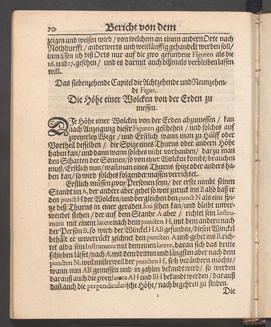 Page 20 from Part 3 of Apollonius Cattus oder ... Geometriae by Benjamin Bramer and Jost Burgi, 1684