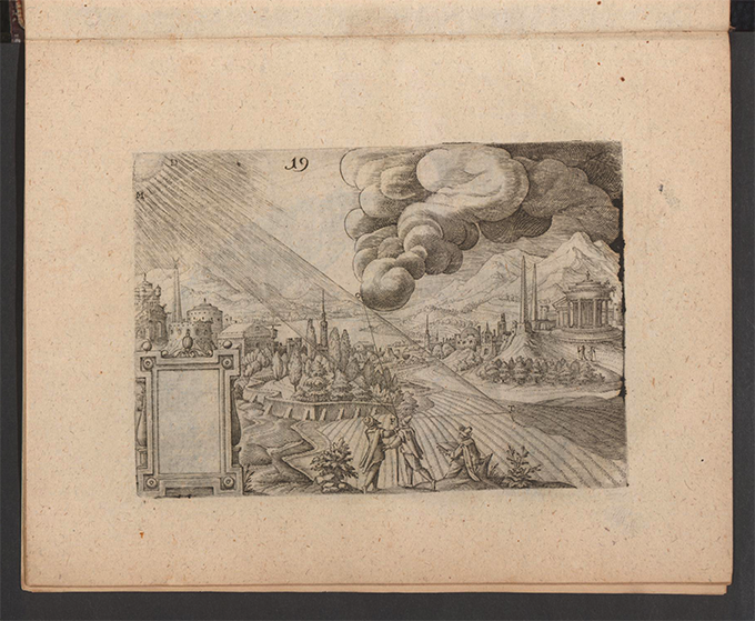 Plate 19 from Part 3 of Apollonius Cattus oder ... Geometriae by Benjamin Bramer and Jost Burgi, 1684
