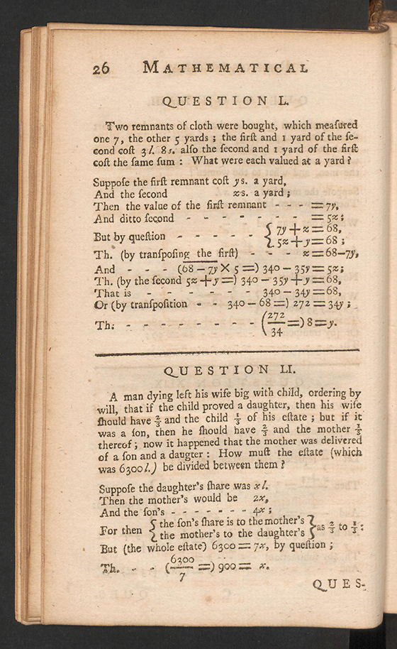 Page 26 of The Mathematical Repository, Volume I, James Dodson, 1748