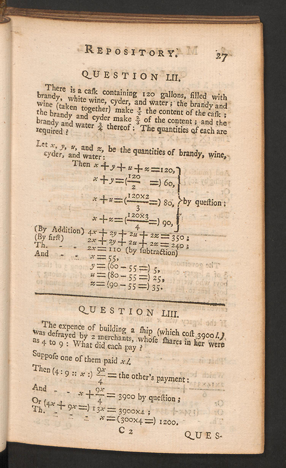 Page 27 of The Mathematical Repository, Volume I, James Dodson, 1748