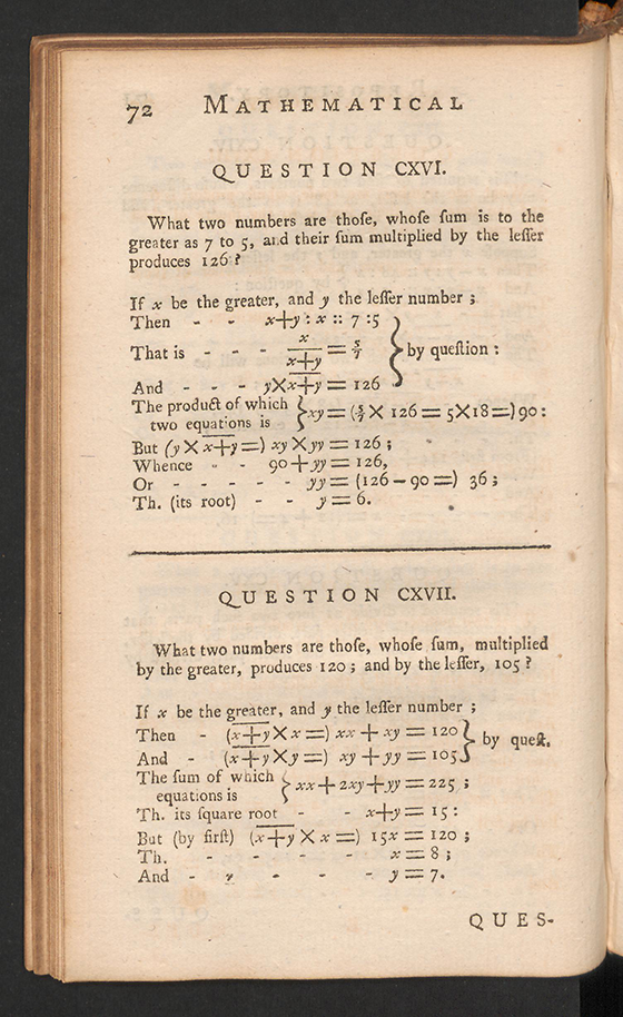 Page 72 of The Mathematical Repository, Volume I, James Dodson, 1748
