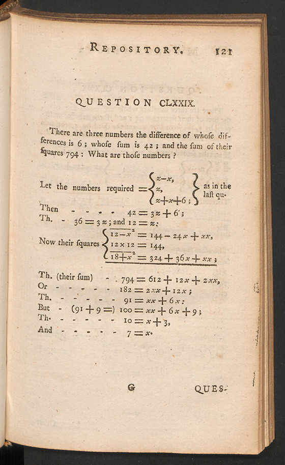 Page 121 of The Mathematical Repository, Volume I, James Dodson, 1748