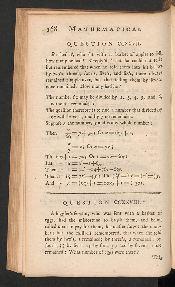 Page 168 of The Mathematical Repository, Volume I, James Dodson, 1748