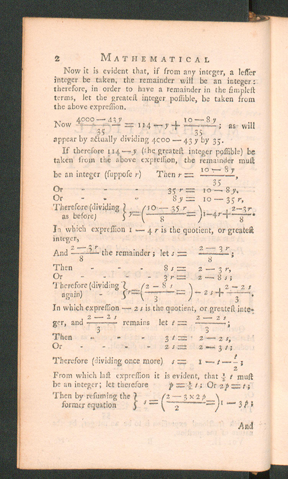 Page 2 of The Mathematical Repository, Volume II, James Dodson, 1753