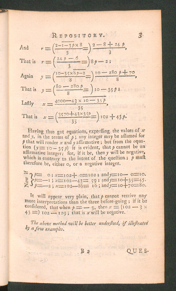 Page 3 of The Mathematical Repository, Volume II, James Dodson, 1753