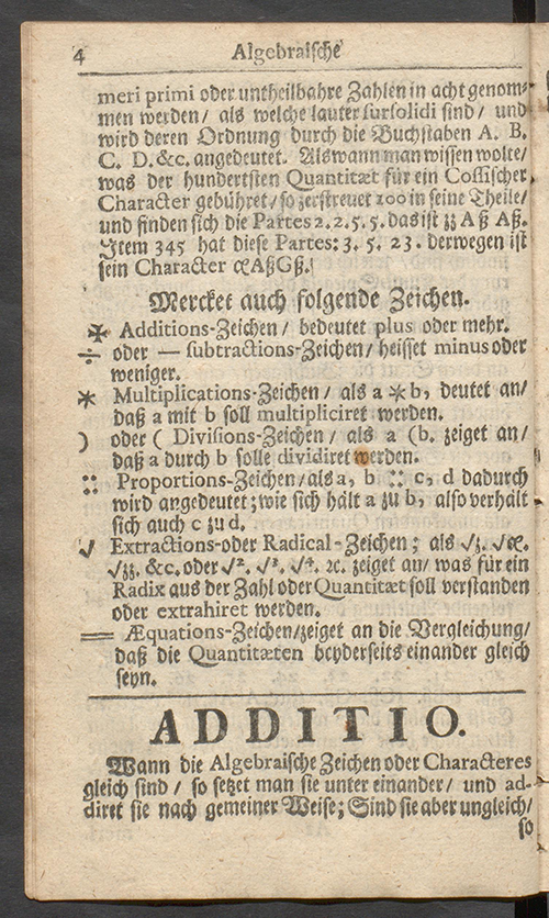 Page 4 of Deliciae Mathematicae by Paul Halcken, 1719