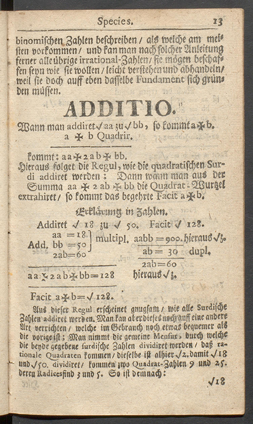 Page 13 of Deliciae Mathematicae by Paul Halcken, 1719