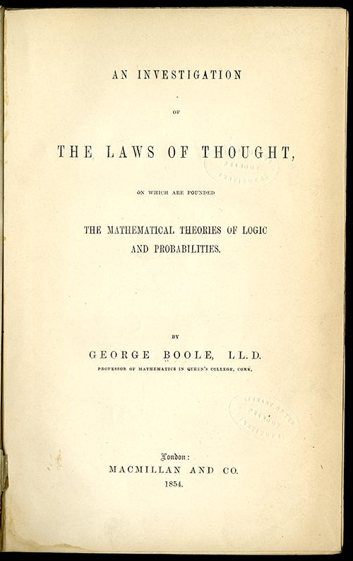 """Résultat de recherche d'images pour """"laws of thought boole"""""""