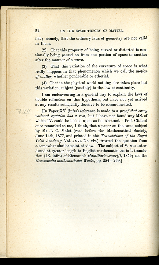 Page 22 of Mathematical Papers by William Clifford, 1882