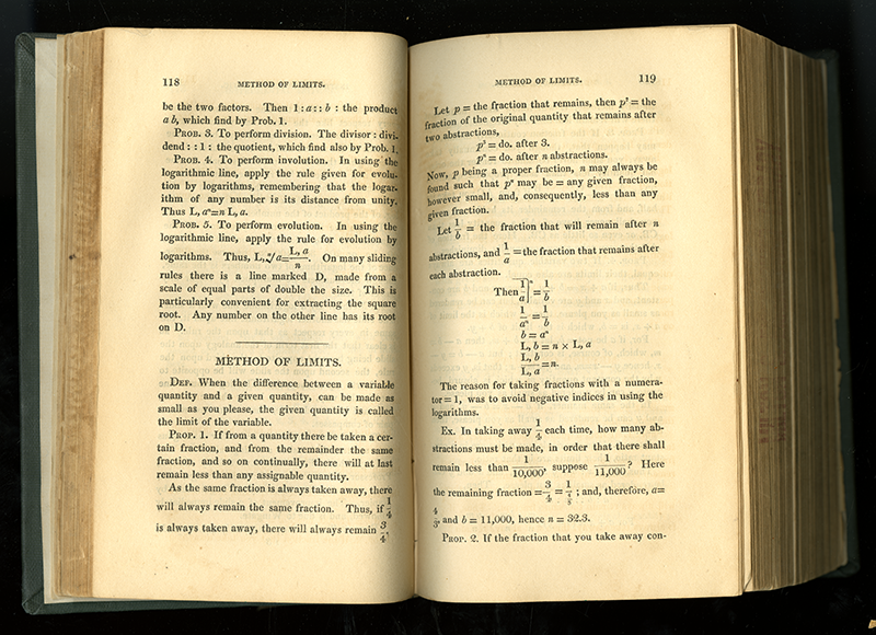 Pages 118-119 from Supplement to Playfair's Geometry and Wood's Algebra by Thomas Duncan, 1824