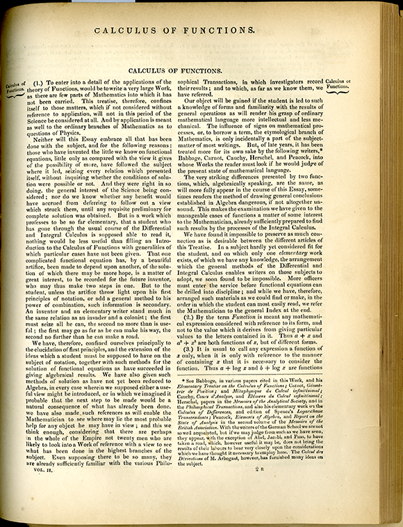 Page 305 on Calculus of Functions from the Encyclopedia of Pure Mathematics, 1847