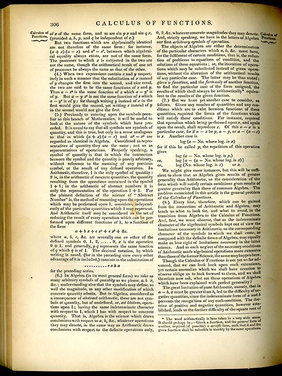 Page 306 on Calculus of Functions from the Encyclopedia of Pure Mathematics, 1847