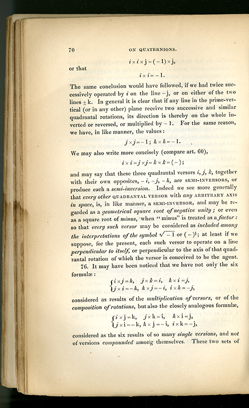 Page 70 of Lectures on Quaternions by William Rowan Hamilton, 1853